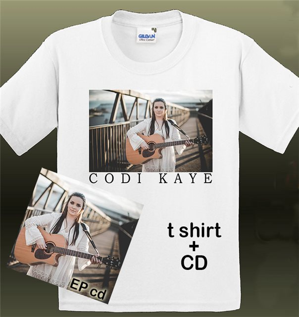Codi Kaye T-shirt CD bundle
